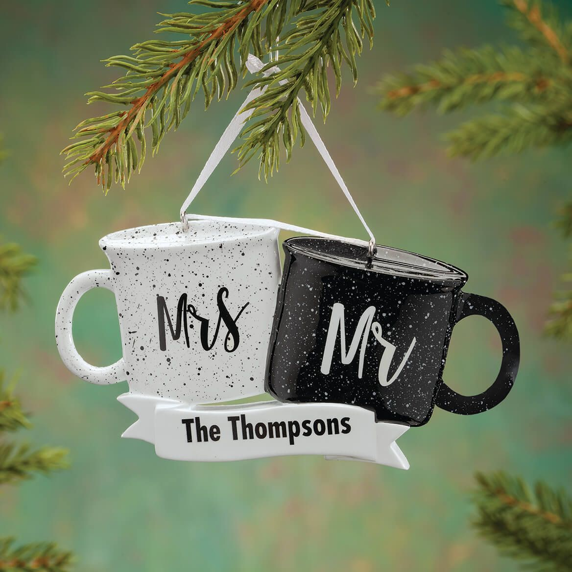 Personalized Mr. and Mrs. Coffee Mugs Ornament-372414