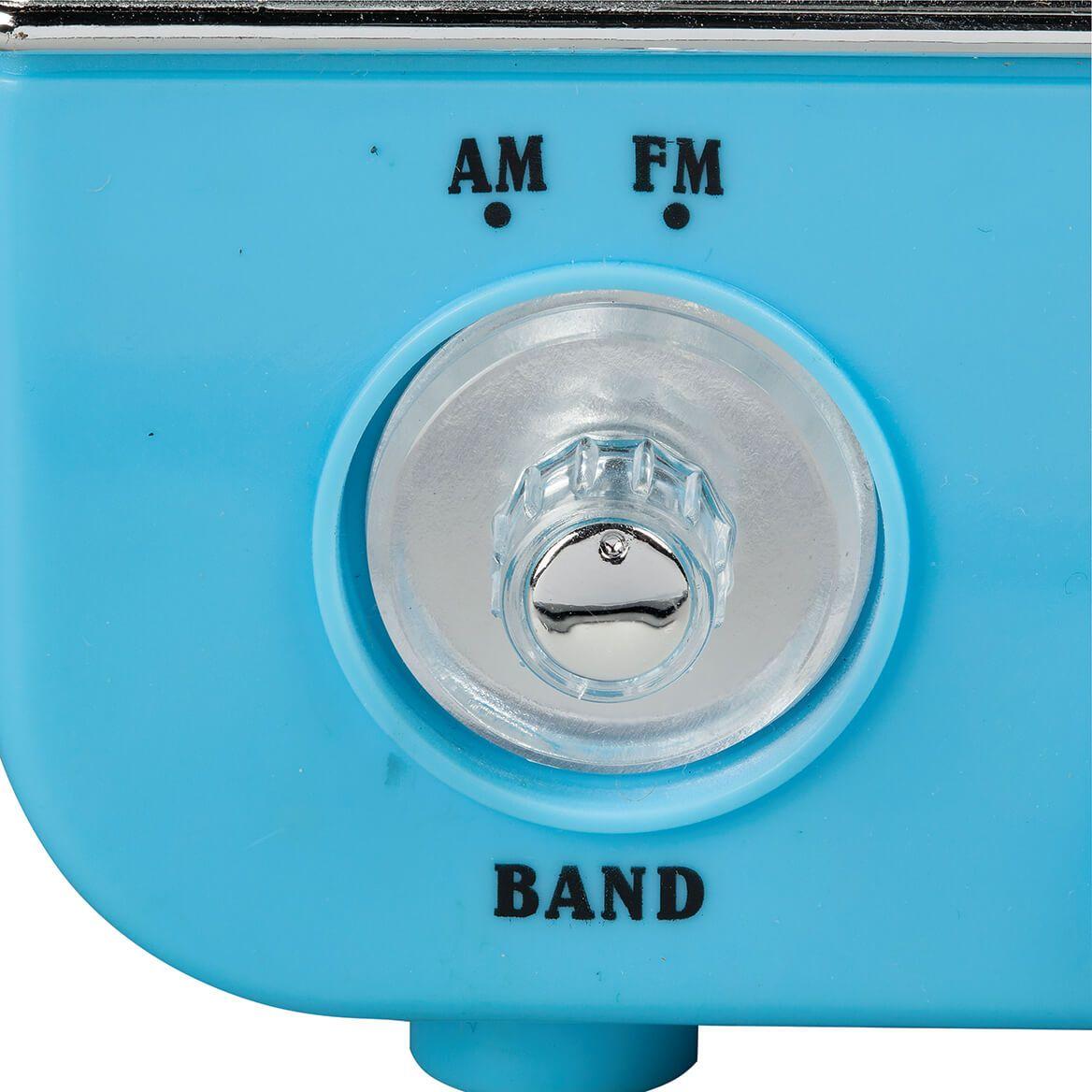 Blue Vintage AM/FM Radio-372615