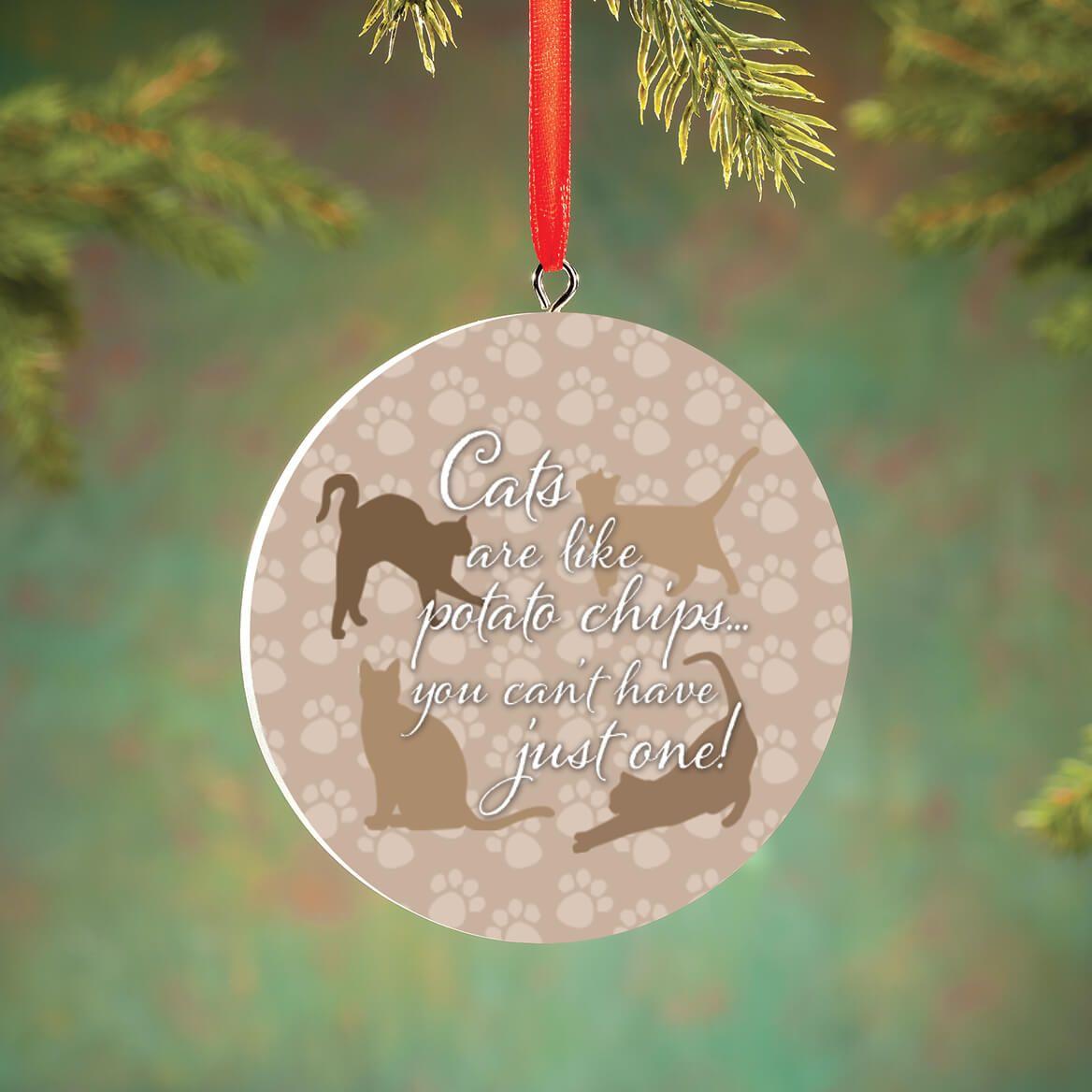 Personalized Cat Potato Chip Ornament-372727