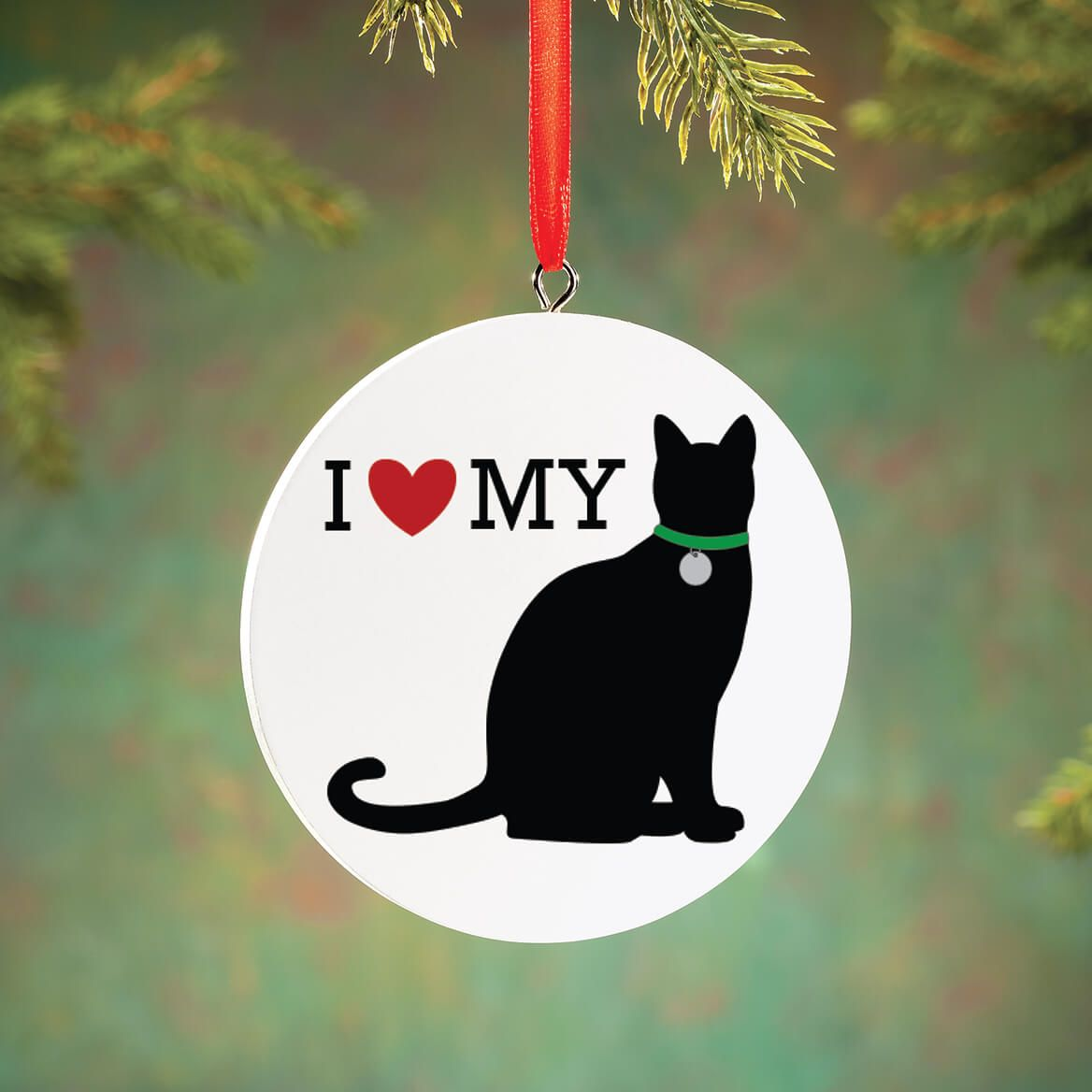 Personalized I Love My Cat Ornament-372728
