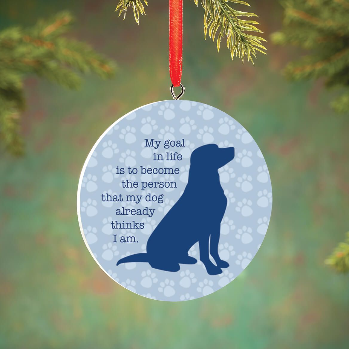Personalized Dog Life Goals Ornament-372730
