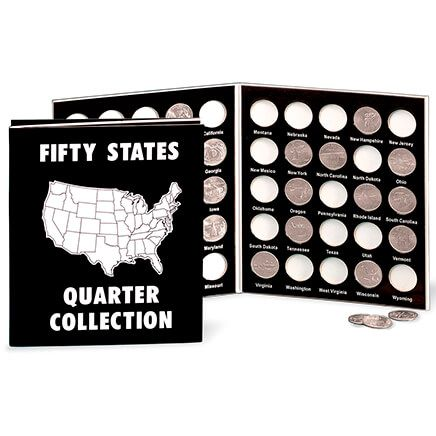 Commemorative State Quarters Black White Album-302690