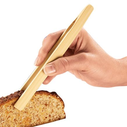 Bamboo Toast Tongs-302899