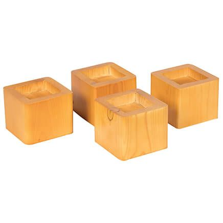 Wooden Bed Risers - Set of 4-308284