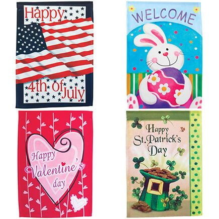 Garden Flags, Set Of 4-311399