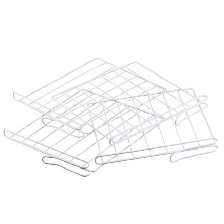 White Wire Closet Shelf Dividers-314012