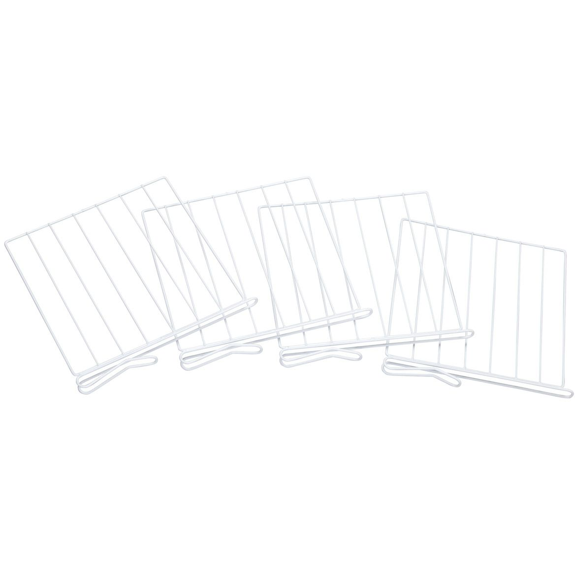 White Wire Closet Shelf Dividers-314012