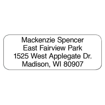 Block Personalized Roll Address Labels, Set of 200-320119