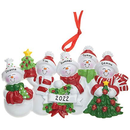 Personalized Snow Family Ornament-326947