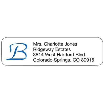 Script Initial Personalized Address Labels-333167