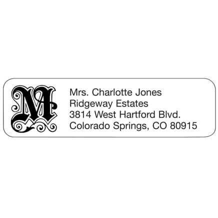 Elegant Initial Personalized Address Labels-333168