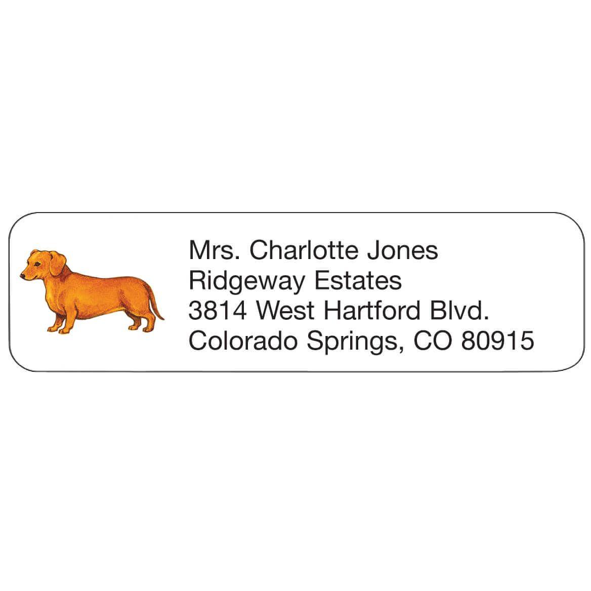 Dachshund Personalized Address Labels-333173