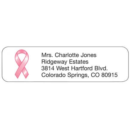 Pink Ribbon Personalized Address Labels-333180