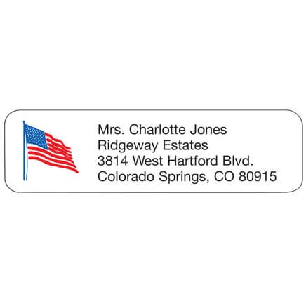 Personal Design Labels Flag-333183