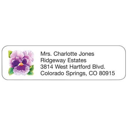 Personal Design Labels Pansy-333187