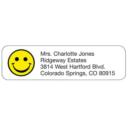 Smiley Face Personalized Address Labels-333191