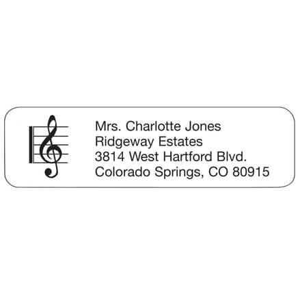 Treble Clef Personalized Address Labels-333199