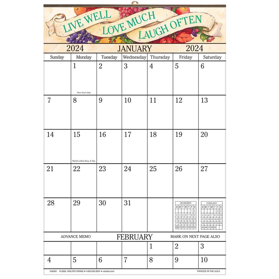 Live Love Laugh Designer 1 Yr Giant Calendar-334060