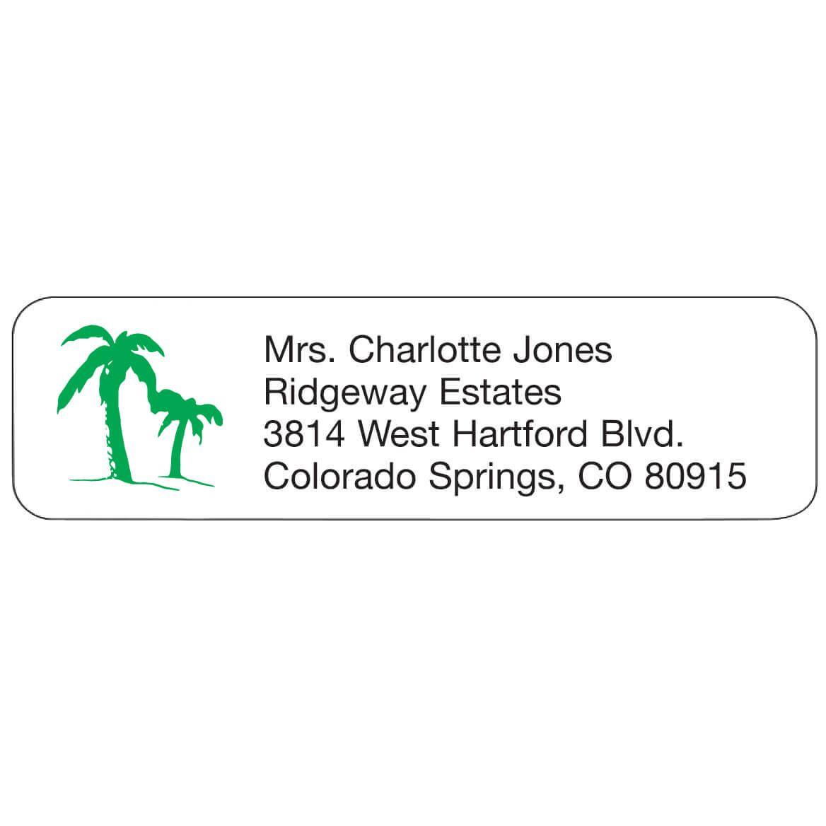Palm Tree Personalized Address Labels-335446