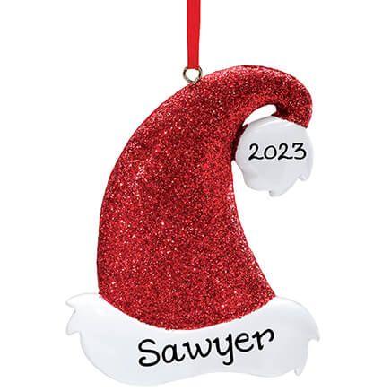 Personalized Santa Hat Glitter Ornament-339211