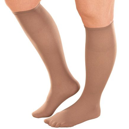 Women's Plus Size Knee High Stockings - Pack Of 6-341900