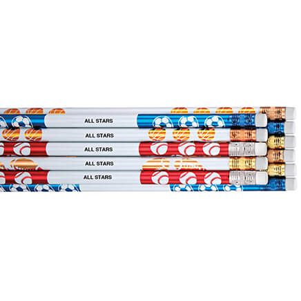 Personalized Sports Pencils - Set Of 12-342754