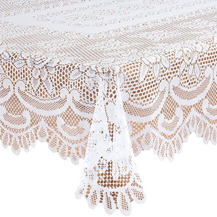 White Rose Lace Tablecloth-344548
