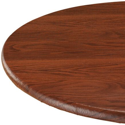 Wood Grain Vinyl Elasticized Table Cover-344622