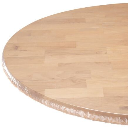 Clear Elasticized Table Cover-344625