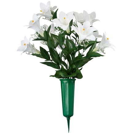 Easter Lily Memorial Bouquet by OakRidge™-345023