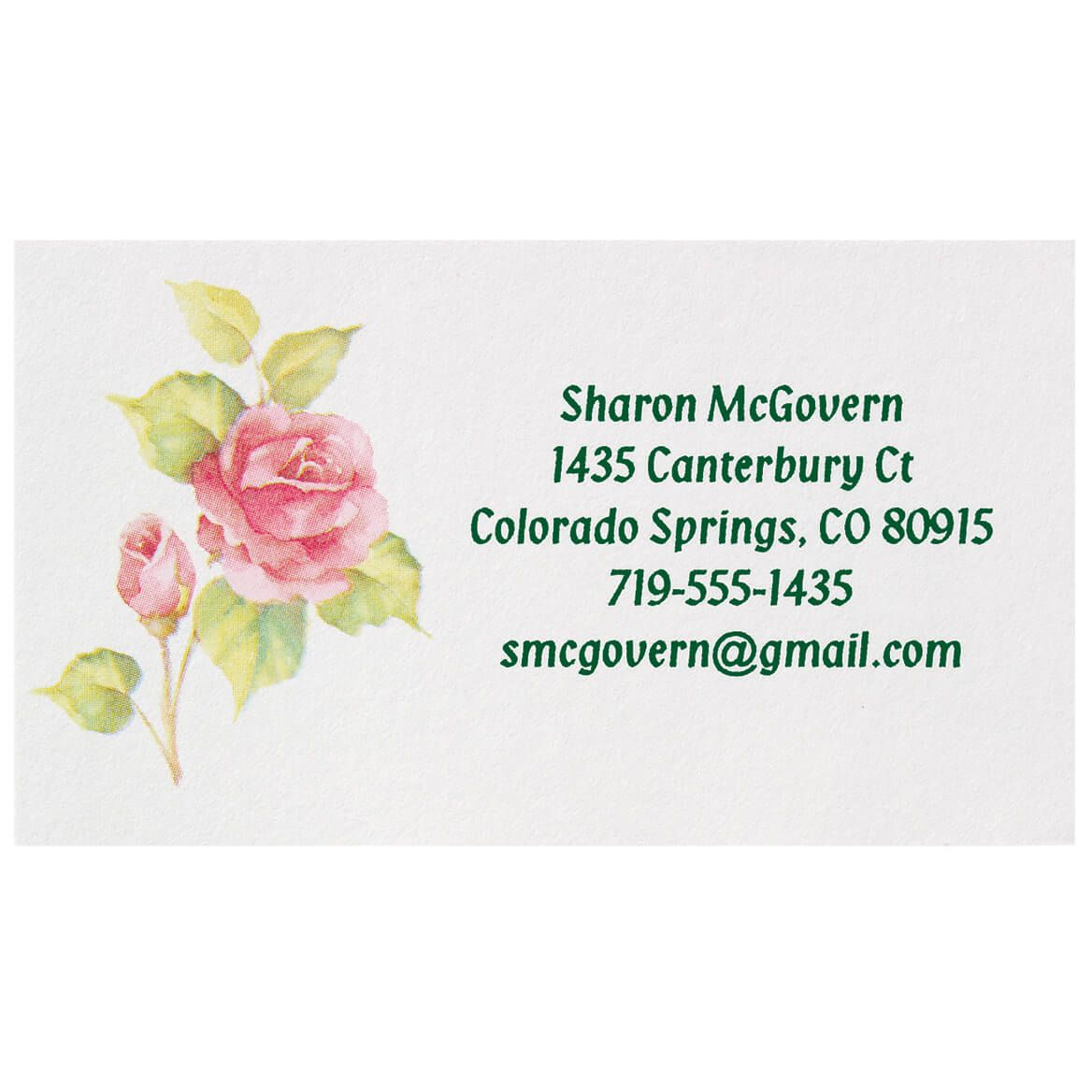 Personalized Rose Business Cards, Set of 200-345425