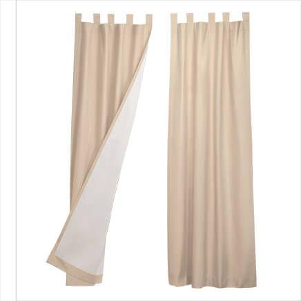 Energy Saving Tab Top Curtain Panels - Set of 2-347012