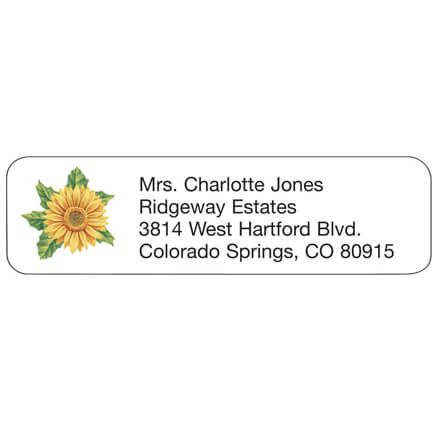 Sunflower Address Labels-347436