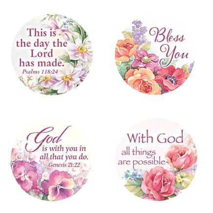 Religious Floral Stickers - Set Of 144-347913