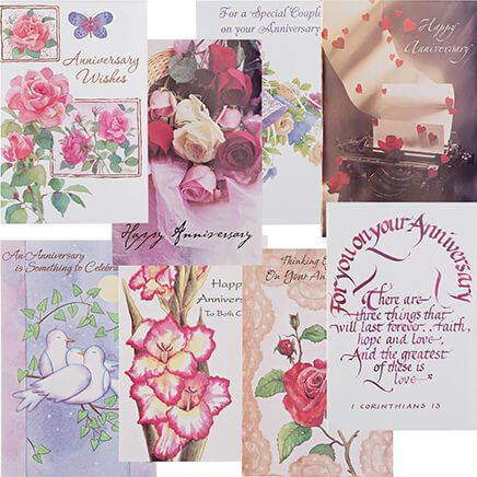 Anniversary Cards Assortment - Pack Of 24-347941