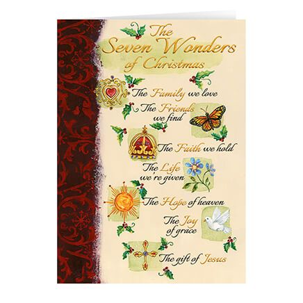 Personalized The Seven Wonders of Christmas Card Set of 20-348930
