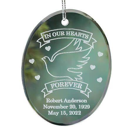 Personalized Memorial Glass Ornament-349190