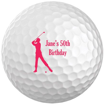 Personalized Women's Golf Balls Set of 6-349697