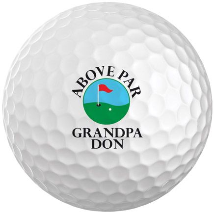 Personalized Above Par Golf Balls Set of 6-349700