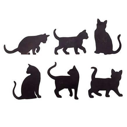 Cat Silhouette Fridge Magnets, Set of 6-351793