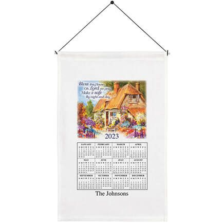 """Bless This House"" Personalized Calendar Towel-352467"