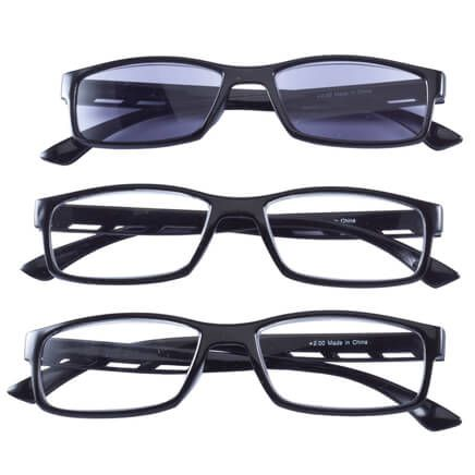 Reading Glasses with Sunreader, Set of 3-352847