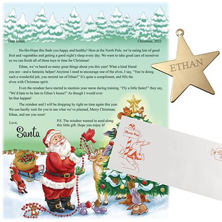Personalized Christmas Letter from Santa and Ornament-353436