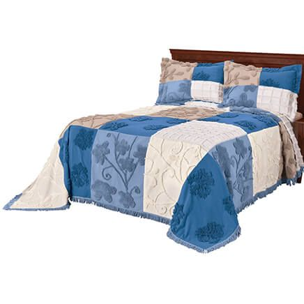 Patchwork Chenille Bedspread-353591
