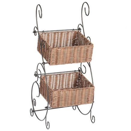 Wicker & Metal Storage Baskets by OakRidge™-353923