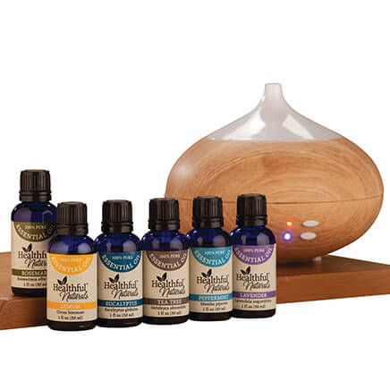 Healthful™ Naturals Starter Essential Oil Kit & 280 ml Diffuser-354043