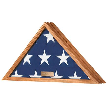 Personalized Veterans Flag Display Case  Honey-355594