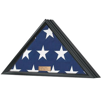 Personalized Veterans Flag Display Case, Black-355596