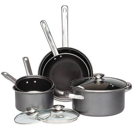 Gray Non-Stick Cookware, 8 Piece Set by Home-Style Kitchen-355673