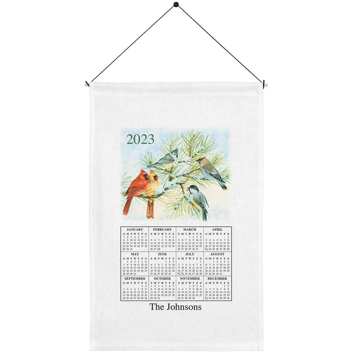 Personalized Songbirds Calendar Towel-355864